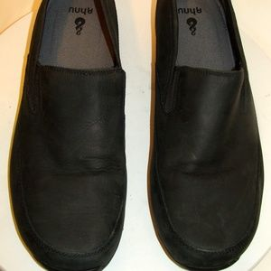 AHNU PRO Mens Black Leather Loafers Shoes Size 13M